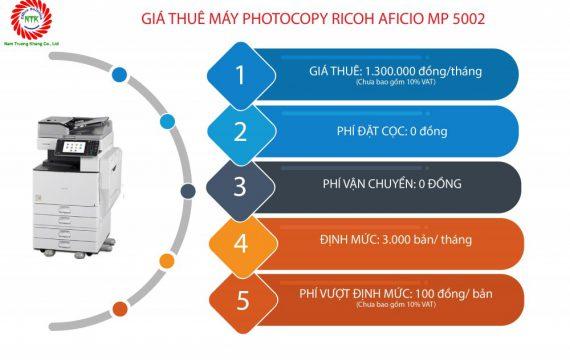 Bảng giá cho thuê máy photocopy Ricoh MP 5002